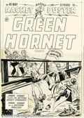 Original Comic Art:Covers, Al Avison - Original Cover Art for Green Hornet #45 (Harvey, 1949).The third-from-the-last issue of this popular title, and...