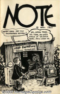 "Original Comic Art:Sketches, Robert Crumb - Original Art ""Note"" for April 18, 1960. One of Crumb's periodic letters to his friend Marty Pahls, this one i..."