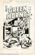 Original Comic Art:Covers, Al Harley - Original Cover Art for Green Hornet #28 (Harvey,1950s). Exciting Al Harley cover has the Green Hornet and his a...