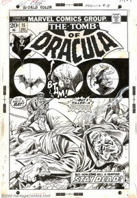 Gil Kane - Original Cover Art for Tomb of Dracula #15 (Marvel, 1973). Although Gene Colan is certainly the artist most a...