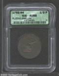 (1792-94) TOKEN Kentucky Token, Plain Edge AU55 ICG. Breen-1155. Hints of the original red color emerge from the otherwi...