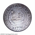 Colonials: , 1776 $1 Continental Dollar, CURENCY, Pewter MS62 NGC. ...