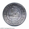 Colonials: , 1776 $1 Continental Dollar, CURRENCY, Pewter, EG FECIT MS62 ...