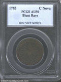 Colonials: , 1783 COPPER Nova Constellatio Copper, Blunt Rays AU50 PCGS.
