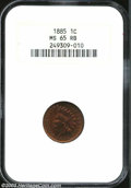 1885 1C MS65 Red and Brown NGC. A splendid full Gem, with deep orange-brown color and well struck, highly lustrous surfa...