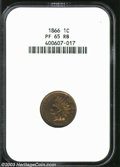 Proof Indian Cents: , 1866 1C PR65 Red and Brown PCGS. Well made with bright ...