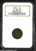 1875 1C PR66 Red and Brown NGC. The surfaces remain highly reflective, despite deep purple-red and brown colors on the o...