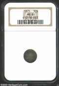 Three Cent Silver: , 1871 3CS MS61 NGC. Deeply toned overall with a generally ...