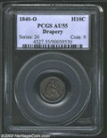 Seated Half Dimes: , 1840-O H10C Drapery AU55 PCGS. Unlike its No Drapery ...
