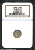 Seated Half Dimes: , 1863 H10C MS63 NGC. This particular coin, although it is ...