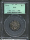 Early Dimes: , 1807 10C Fine 12 PCGS. JR-1, R.2. The only die marriage ...