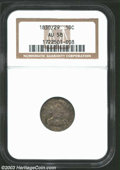 Bust Dimes: , 1830/29 10C AU58 NGC. JR-4, R.2. Medium golden-brown and ...