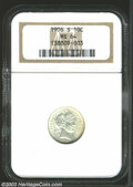 Barber Dimes: , 1906-S 10C MS64 NGC. Sharply struck and essentially ...