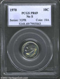 Proof Roosevelt Dimes: , 1970 10C No S PR69 PCGS. Sharply struck with appealing ...