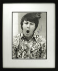 "Music Memorabilia:Autographs and Signed Items, Beach Boys Related - Brian Wilson Signed Photo. A rather curiousb&w 11"" x 14"" photo of the former Beach Boy, signed by him ..."
