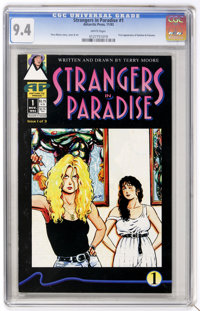 Strangers in Paradise #1 (Antarctic Press, 1993) CGC NM 9.4 White pages