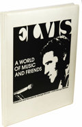 "Music Memorabilia:Recordings, Elvis Presley ""A World Of Music and Friends"" 5 Cassette Box Set (1978). Produced and narrated by George Michael (producer fo..."