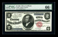 Large Size:Silver Certificates, Fr. 246 $2 1891 Silver Certificate PMG Gem Uncirculated 66 EPQ.This is a beautiful Windom, with nice centering of both side...