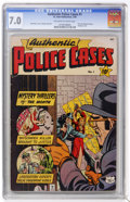 Golden Age (1938-1955):Crime, Authentic Police Cases #1 (St. John, 1948) CGC FN/VF 7.0 Off-white to white pages....