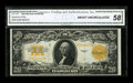Large Size:Gold Certificates, Fr. 1187 $20 1922 Gold Certificate CGA About Uncirculated 58. Onefold and a light bend account for the grade on this otherw...