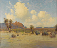 ROBERT WOOD (1889-1979) El Capitan, 1935 Oil on canvas 25in. x 30in. Signed lower left  A wonderful West Texas lan