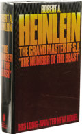 Books:First Editions, Robert A. Heinlein: The Number of the Beast. (London: NewEnglish Library, 1980), first edition, 556 pages, bound in bla...