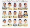 Autographs:Post Cards, 1980's Perez-Steele Multi-Signed Uncut Sheets Lot of 3. Perfect forframing, this trio of fifteen-card uncut sheets provide...