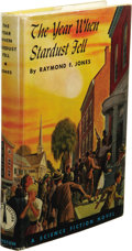 Books:First Editions, Raymond Jones: The Year When Stardust Fell. (Philadelphia:The John C. Winston Company, 1958), first edition, 203 pages,...