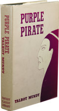 Books:First Editions, Talbot Mundy: Purple Pirate. (New York: Gnome Press, 1959),first edition thus, 367 pages, black cloth with gilt, silver...