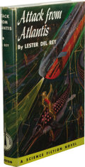 Books:First Editions, Lester del Rey: Attack from Atlantis. (Philadelphia: TheJohn C. Winston Company, 1953), first edition, 207 pages, light...