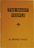 Books:First Editions, Francis Flagg: The Night People. (Los Angeles: FantasyPublishing Co., Inc., 1947), first edition, 32 pages, orangewrap...