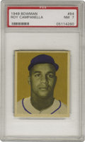 Baseball Cards:Singles (1940-1949), 1949 Bowman Roy Campanella #84 PSA NM 7. High-grade rookieremembers the Brooklyn Dodgers Hall of Fame backstop during happ...