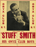 Music Memorabilia:Posters, Stuff Smith and Cozy Cole Signed Jazz Window Card, plus ClaudeHopkins Signed Jazz Window Card. Stuff Smith was one of the f...