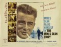 "Movie/TV Memorabilia:Posters, ""The James Dean Story"" (Warner Brothers, 1957). Half Sheet (22"" X28"") and One Sheet (27"" X 41""). The rolled half sheet has ..."