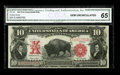 Large Size:Legal Tender Notes, Fr. 120 $10 1901 Legal Tender CGA Gem Uncirculated 65. The marginson this scarcer type note are quite even with pleasing co...