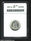 1875-CC 20C AU55 ANACS. A picture perfect example for the stated grade with smooth, bright surfaces and only the slighte...