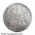 1870-CC 25C XF40 Details, Damaged, NCS. The premier issue from the Carson City Mint, generally considered to be the most...