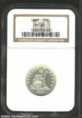Proof Seated Quarters: , 1869 25C PR65 NGC. A beautiful Gem proof, with lightly ...
