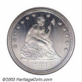 Proof Seated Quarters: , 1885 25C PR67 Cameo NGC. The limited original mintage of ...