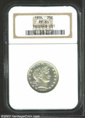 Proof Barber Quarters: , 1894 25C PR65 NGC. The deeply mirrored fields are lightly ...