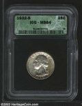 Washington Quarters: , 1932-S 25C MS64 ICG. Only 408,000 pieces were struck of ...