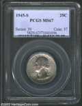 Washington Quarters: , 1945-S 25C MS67 PCGS. A truly special coin that has ...