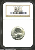 Washington Quarters: , 1950-D/S 25C MS64 NGC. FS-21. The curve of a prior S ...