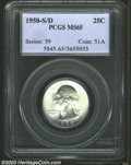 Washington Quarters: , 1950-S/D 25C MS65 PCGS. FS-22. The curve of an underlying ...