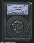 Statehood Quarters: , 2002-P 25C Louisiana MS69 PCGS. A lovely example with ...