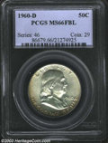Franklin Half Dollars: , 1960-D 50C MS66 Full Bell Lines PCGS. The lower obverse ...
