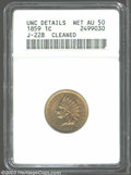 Patterns: , 1859 P1C Indian Cent, Judd-228, Pollock-272, R.1--Cleaned--...