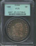 Early Dollars: , 1800 $1 Wide Date, Low 8 VF25 PCGS. B-10, BB-190, R.2. ...