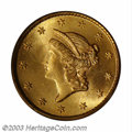 Gold Dollars: , 1854 G$1 Type One MS66 PCGS. The 1854 is one of the most ...