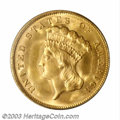 Three Dollar Gold Pieces: , 1878 $3 MS66 PCGS. By far the most frequently seen date ...